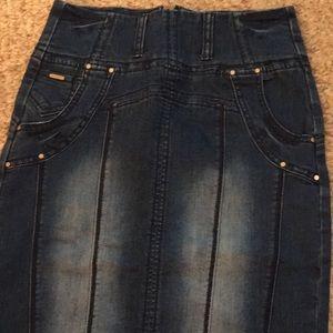 Ranbeeri Skirts - Never Worn High Waist Denim Pencil Skirt